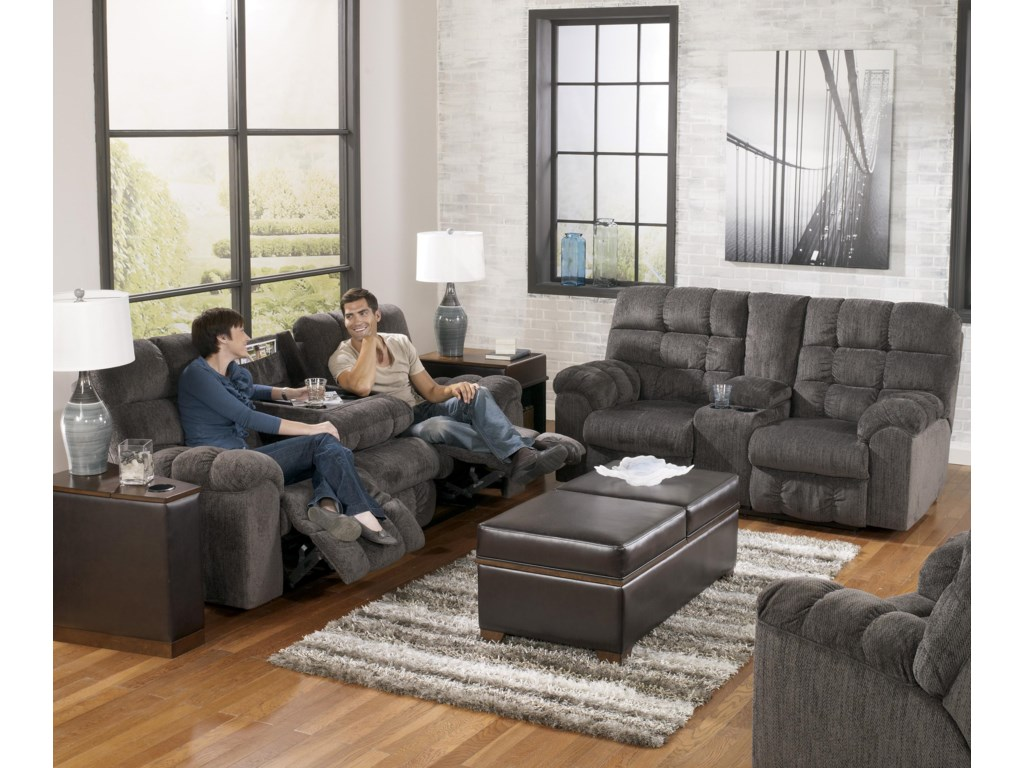 Shown in Right Corner with Coordinating Collection Sofa and Loveseat