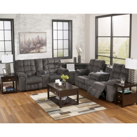 Reclining Sectional with Left Side Loveseat