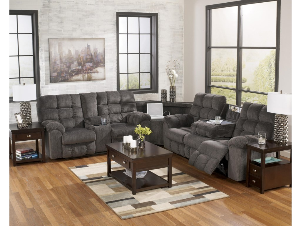 StyleLine Acieona - SlateReclining Sectional with Left Side Loveseat