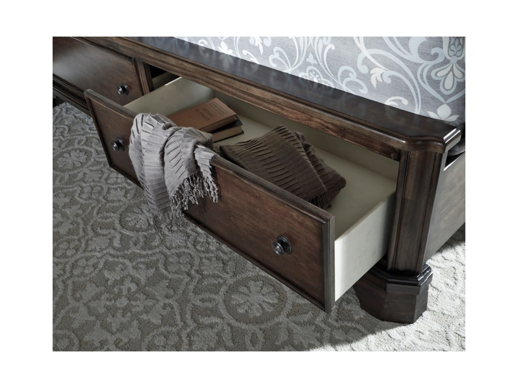 Signature Design by Ashley AdintonCal King Panel Bed with Storage Footboard