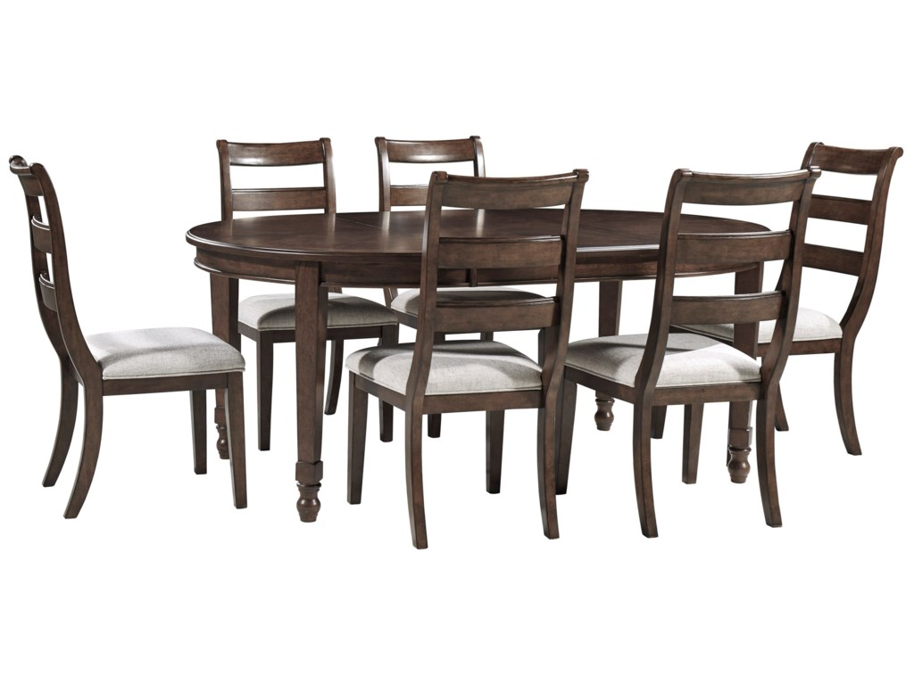 Signature Design by Ashley Adinton7-Piece Table and Chair Set