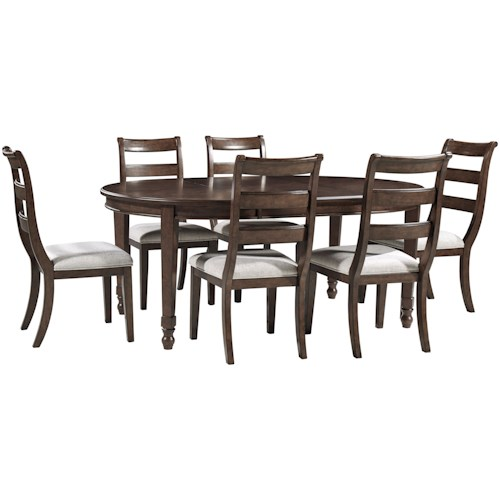 Signature Design by Ashley Adinton 7-Piece Table and Chair Set