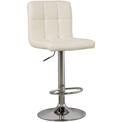 Signature Design by Ashley Bellatier Tall Upholstered Swivel Barstool in Bone Faux Leather