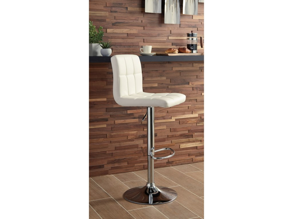 Trendz Adjustable Height BarstoolsTall Upholstered Swivel Barstool