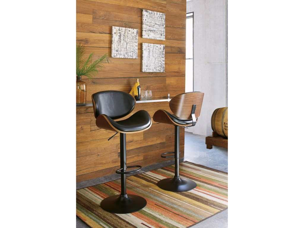 Signature Design BellatierTall Upholstered Swivel Barstool