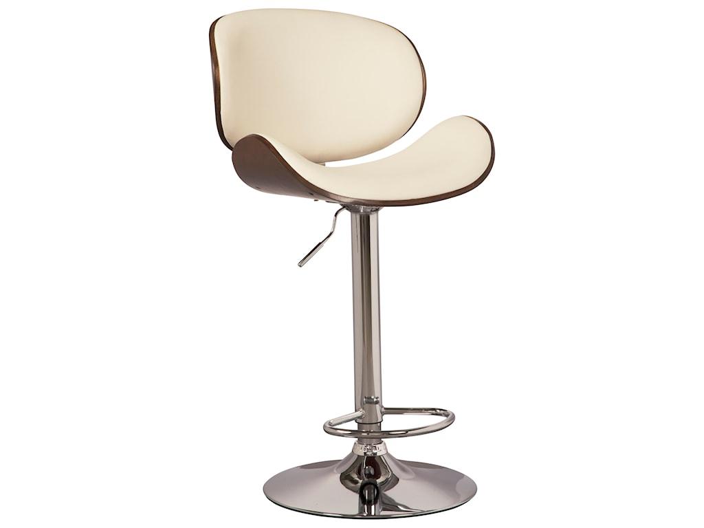 Trendz Adjustable Height BarstoolsTall Upholstered Swivel Barstool