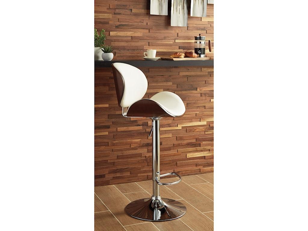 Signature Design by Ashley Adjustable Height BarstoolsTall Upholstered Swivel Barstool