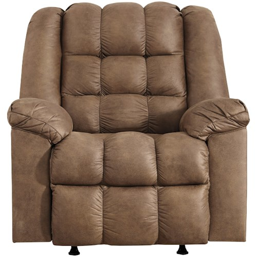 Signature Design by Ashley Adrano Casual Rocker Recliner with Heat and Massage