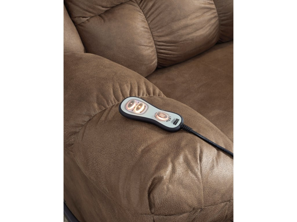 Ashley Signature Design AdranoRocker Recliner with Heat and Massage