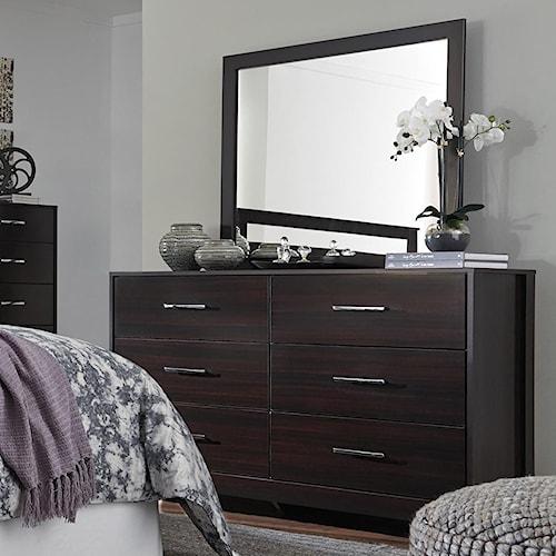 Signature Design by Ashley Agella Contemporary Dresser & Bedroom Mirror