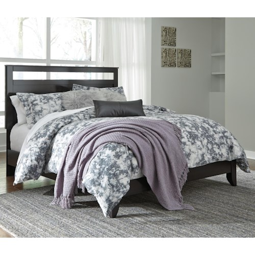 Signature Design by Ashley Agella Queen Panel Bed with Low Profile Footboard