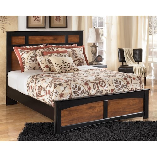 Signature Design by Ashley Furniture Aimwell Two-Tone Finish Queen Panel Bed