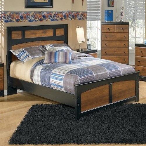 Signature Design by Ashley Furniture Aimwell Two-Tone Finish Full Panel Bed