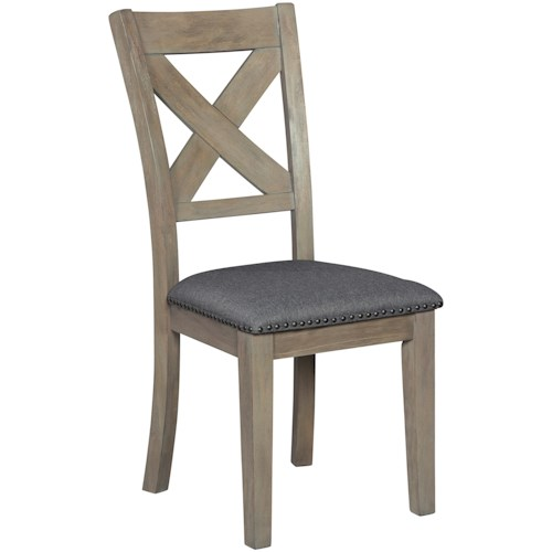 Signature Design by Ashley Aldwin X-Back Dining Upholstered Side Chair