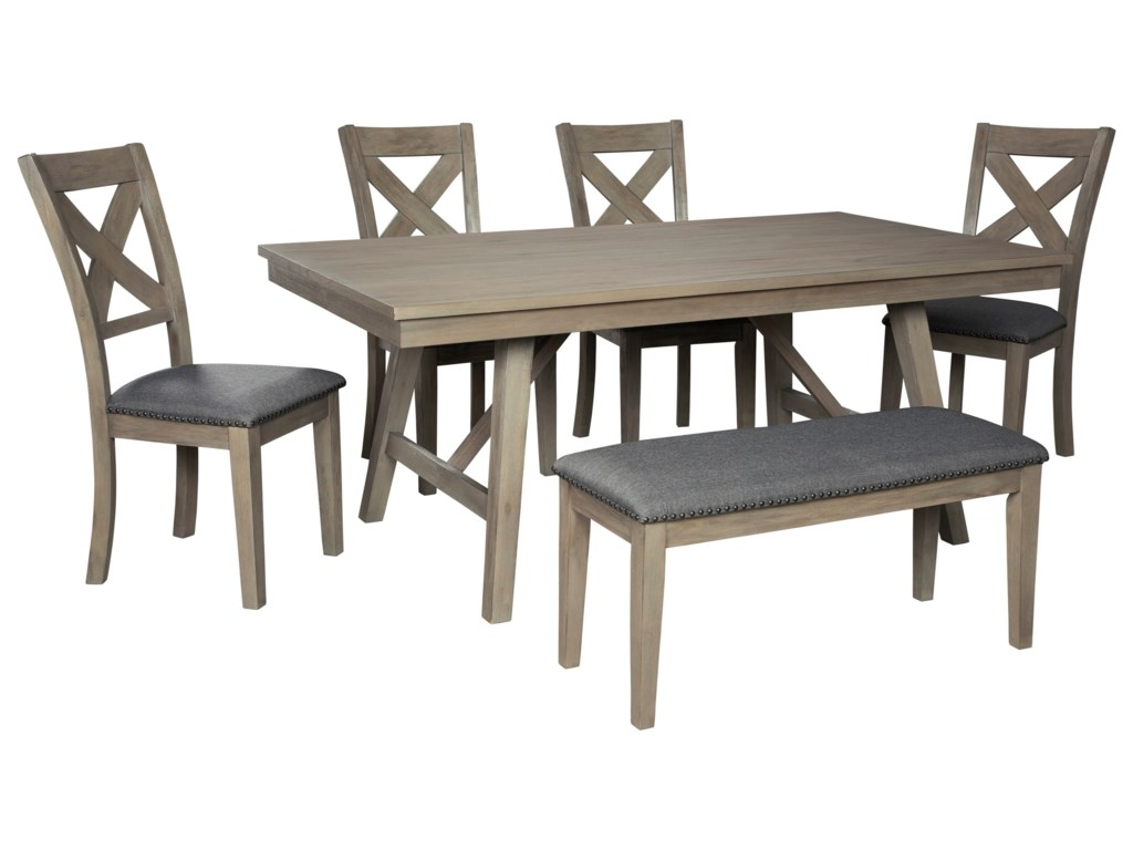 Signature Design by Ashley AldwinTable and Chair Set with Bench