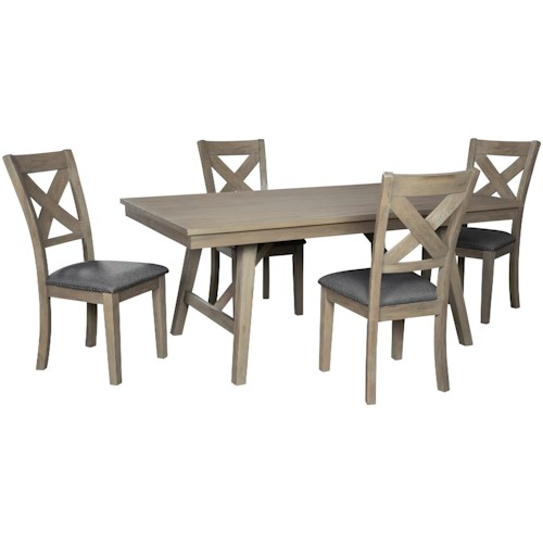 Signature Design by Ashley Aldwin 5-Piece Table and Chair Set