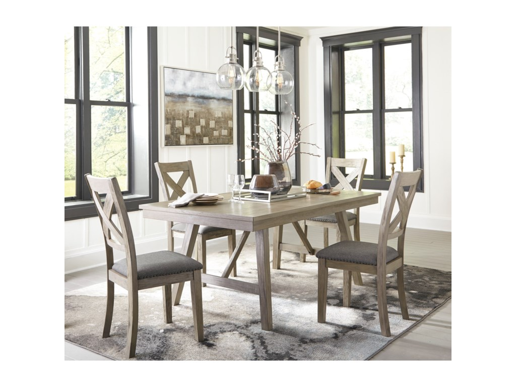 Signature Design by Ashley Aldwin5-Piece Table and Chair Set