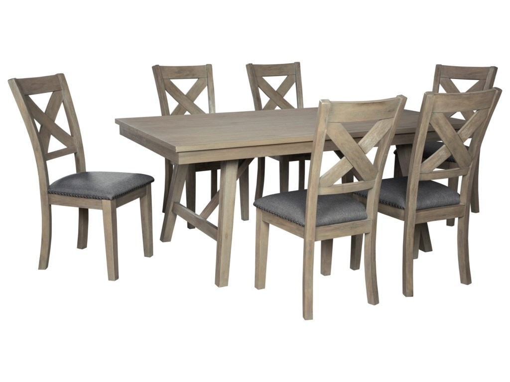 Signature Design by Ashley Aldwin7-Piece Table and Chair Set