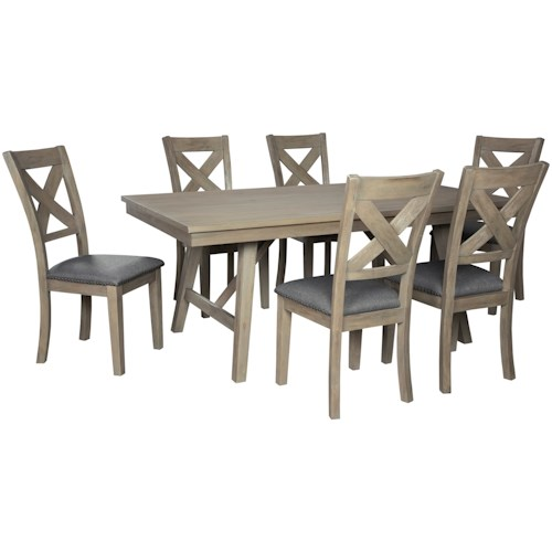 Signature Design by Ashley Aldwin 7-Piece Table and Chair Set