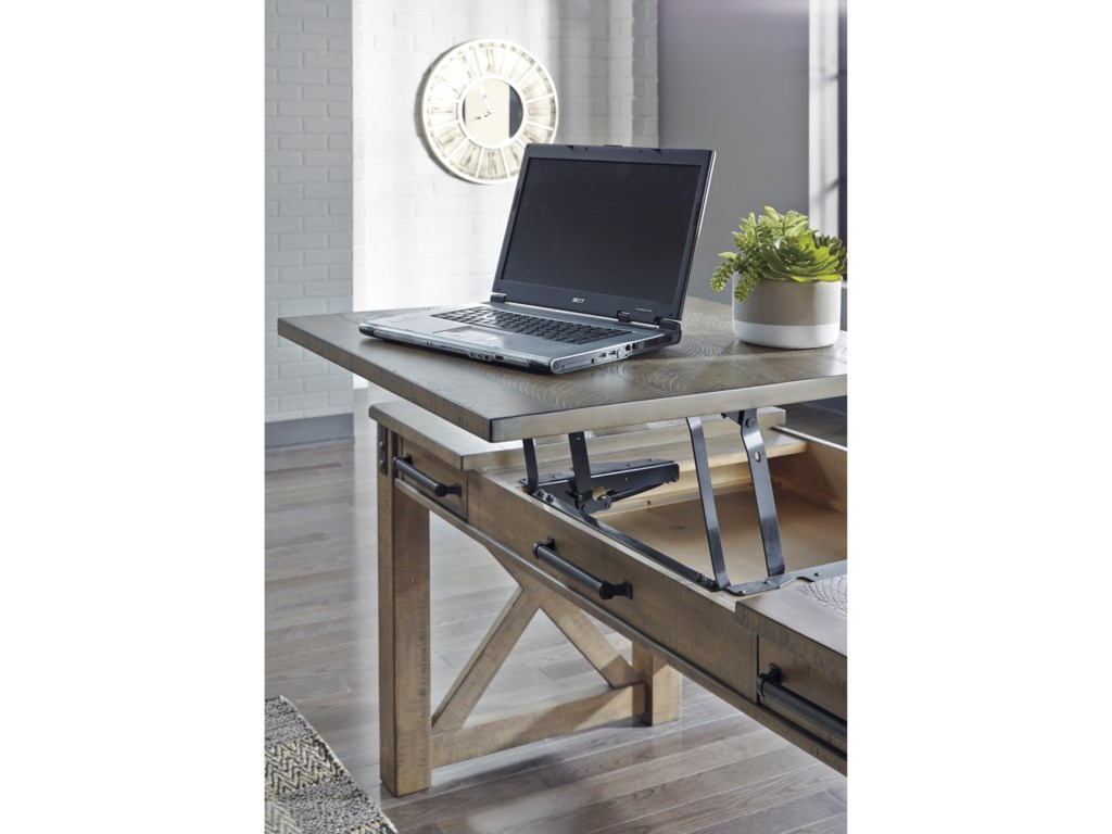 Ashley Signature Design AldwinHome Office Lift Top Desk