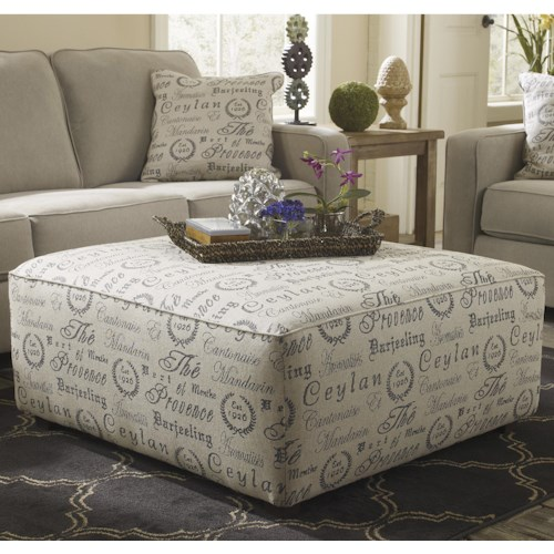Signature Design by Ashley Alenya - Quartz Oversized Accent Ottoman w/ Exposed Block Legs