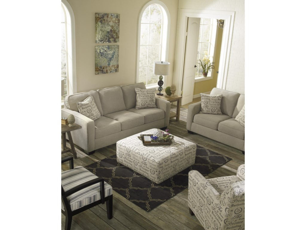 Ashley (Signature Design) Alenya - QuartzOversized Accent Ottoman