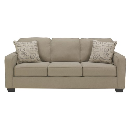 Signature Design by Ashley Furniture Alenya - Quartz Comtemporary Track Arm Queen Sofa Sleeper