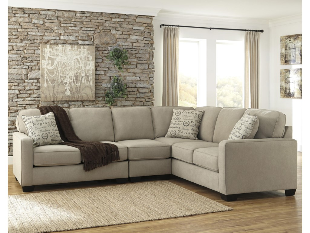 Signature Design by Ashley Alenya - Quartz3-Piece Sectional with Left Loveseat