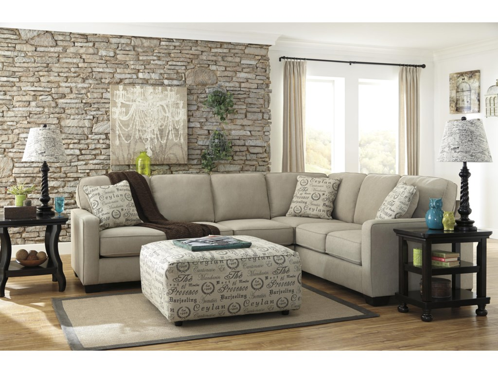 Ashley Signature Design Alenya - Quartz3-Piece Sectional with Left Loveseat
