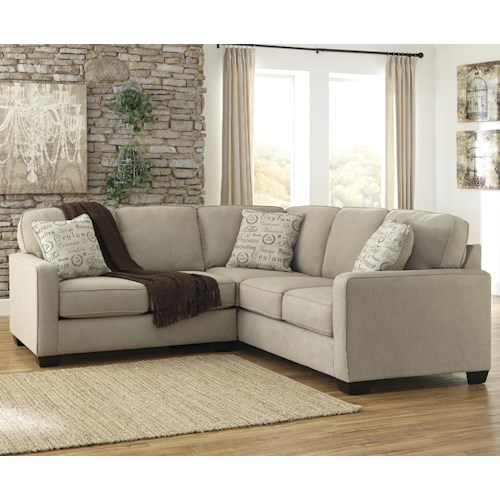 Signature Design by Ashley Furniture Alenya - Quartz 2-Piece Sectional with Left Loveseat