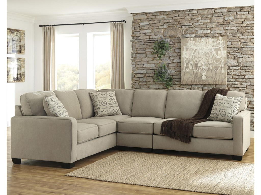 Signature Design Alenya - Quartz3-Piece Sectional with Right Loveseat