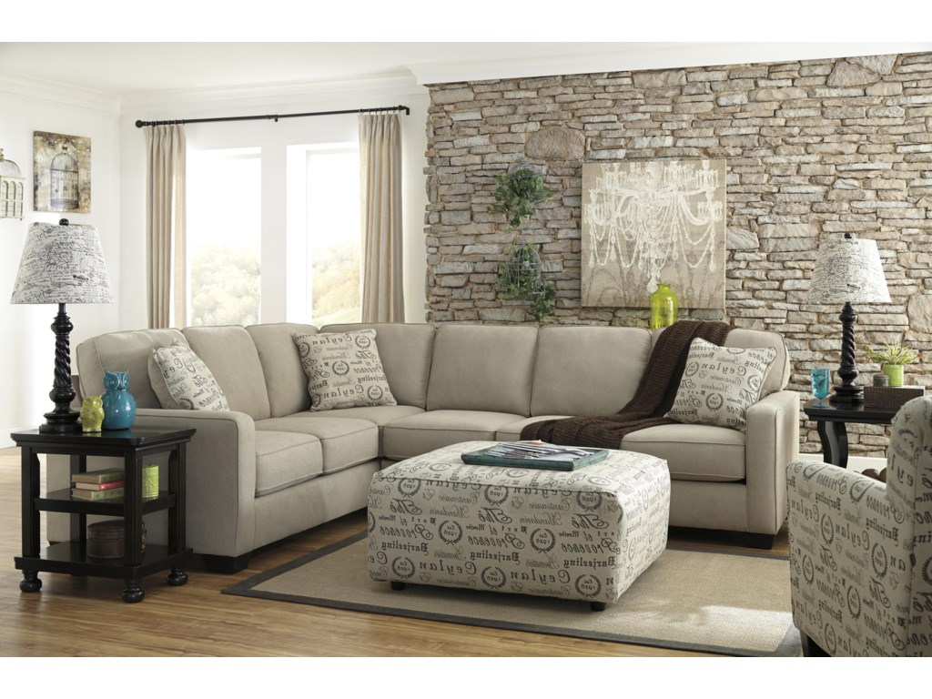 Ashley (Signature Design) Alenya - Quartz3-Piece Sectional with Right Loveseat