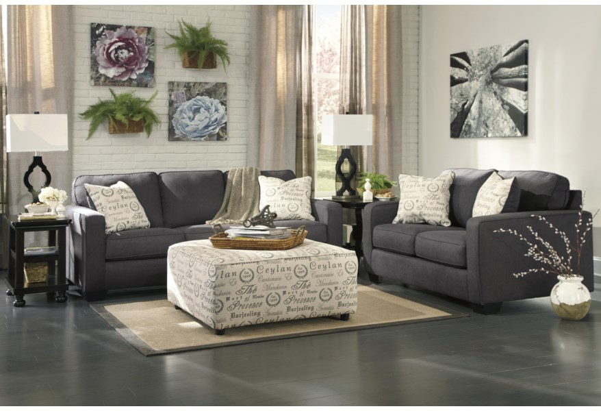 Ashley Signature Design Alenya Charcoal Stationary Living Room