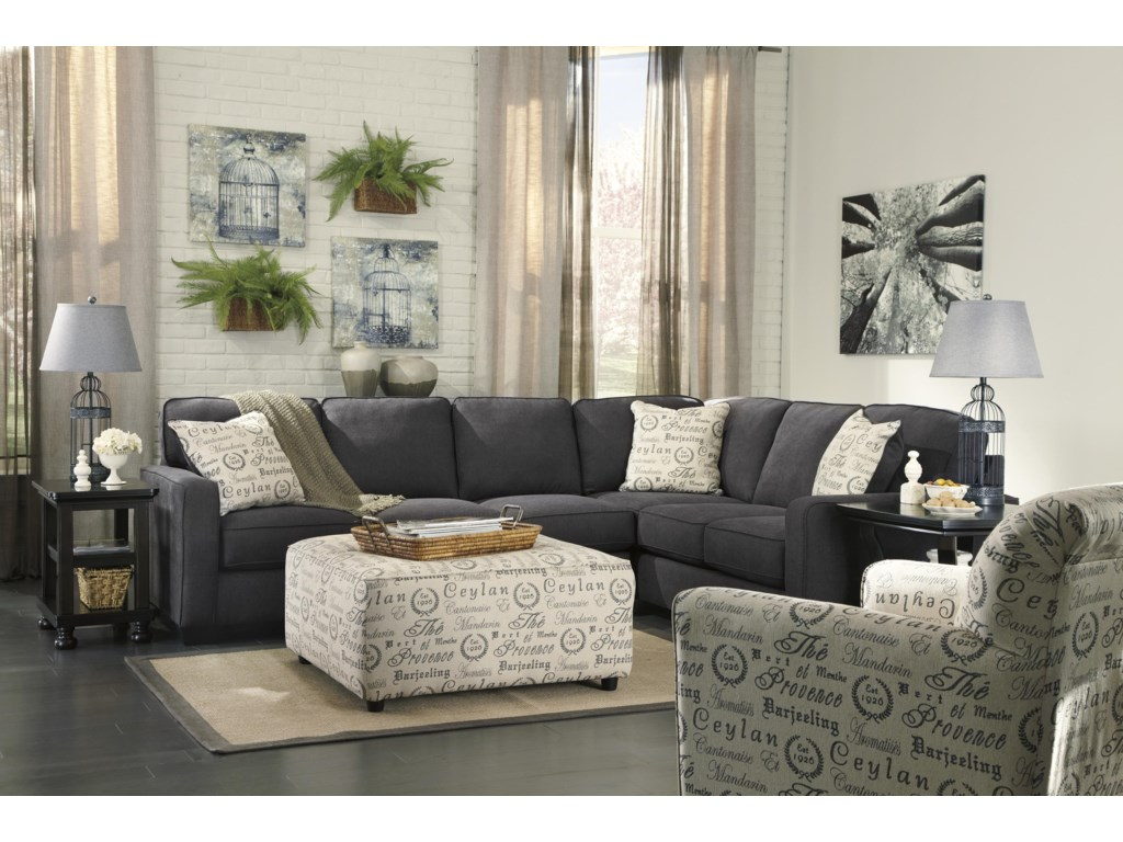 Ashley (Signature Design) Alenya - CharcoalStationary Living Room Group