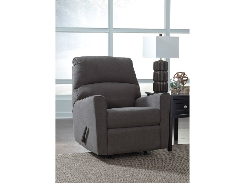 Ashley (Signature Design) Alenya - CharcoalRocker Recliner