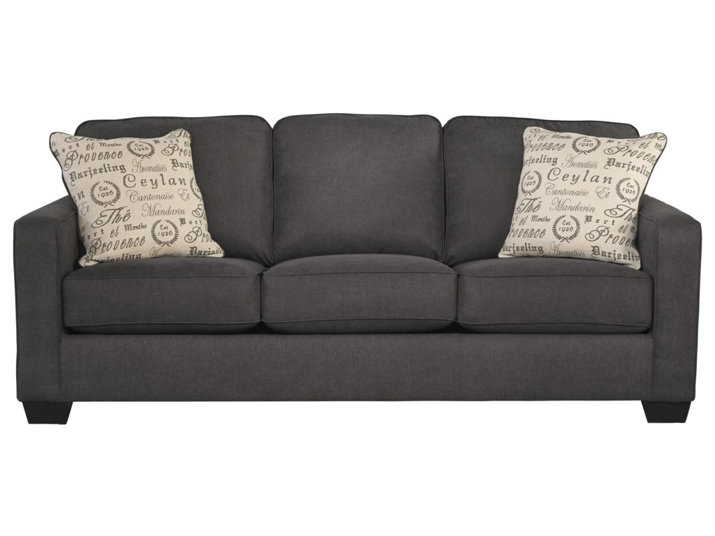 Signature Design by Ashley Alenya - CharcoalQueen Sofa Sleeper