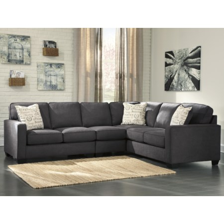 3-Piece Sectional with Left Loveseat