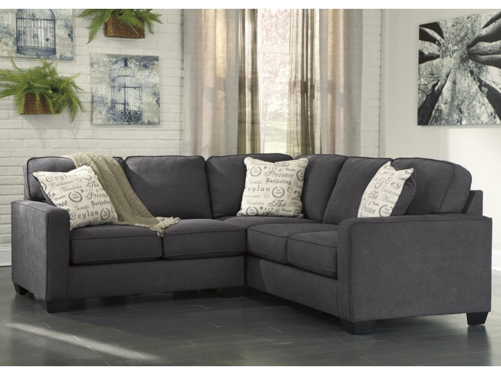 Signature Design by Ashley Alenya - Charcoal2-Piece Sectional with Left Loveseat