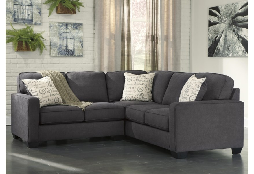 Corin Charcoal 2 Piece Sectional With
