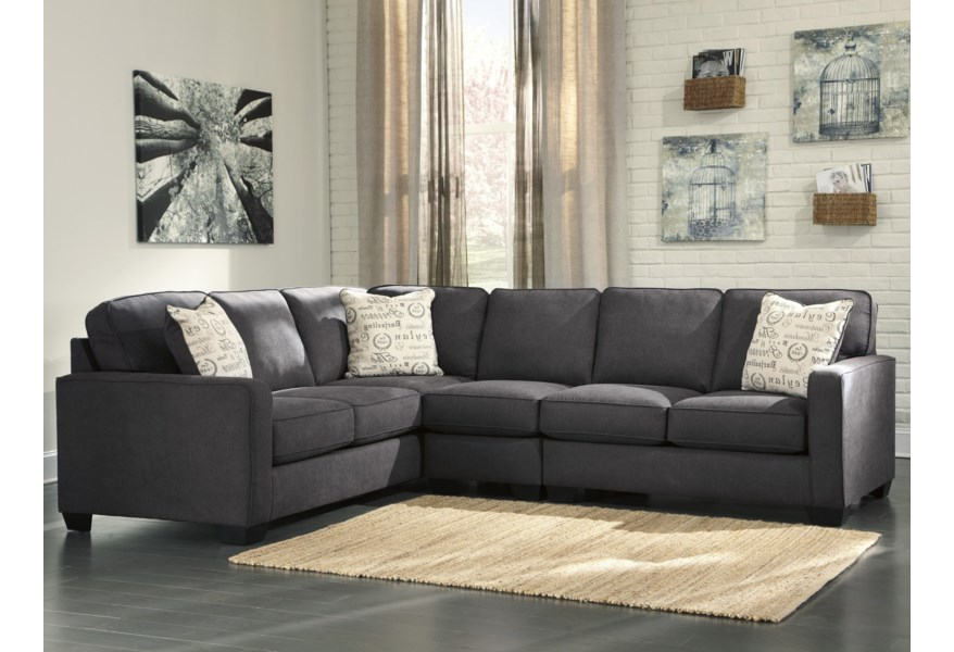 Charcoal 3 Piece Sectional