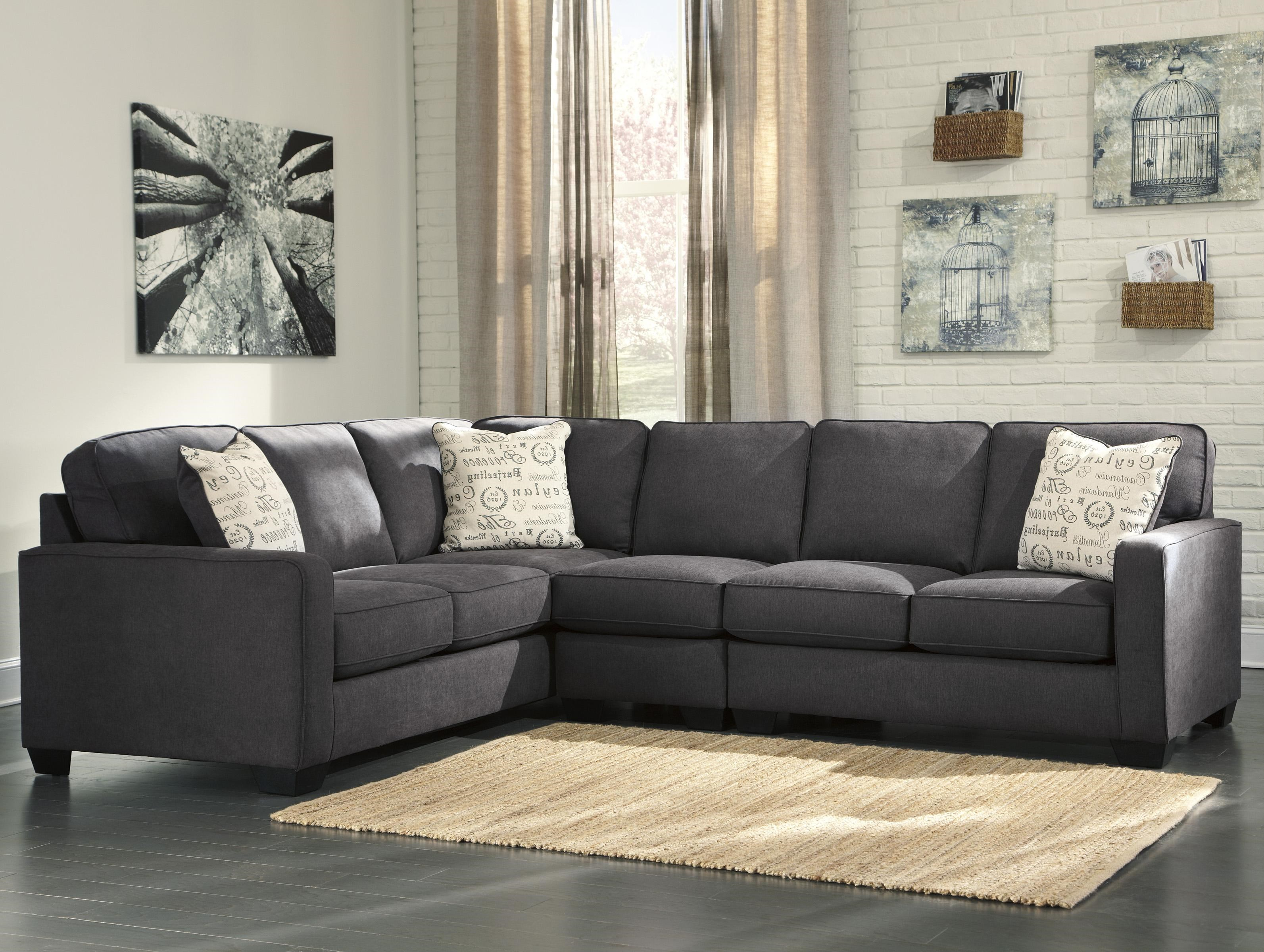 Ashley Signature Design Alenya   Charcoal3 Piece Sectional With Right  Loveseat ...