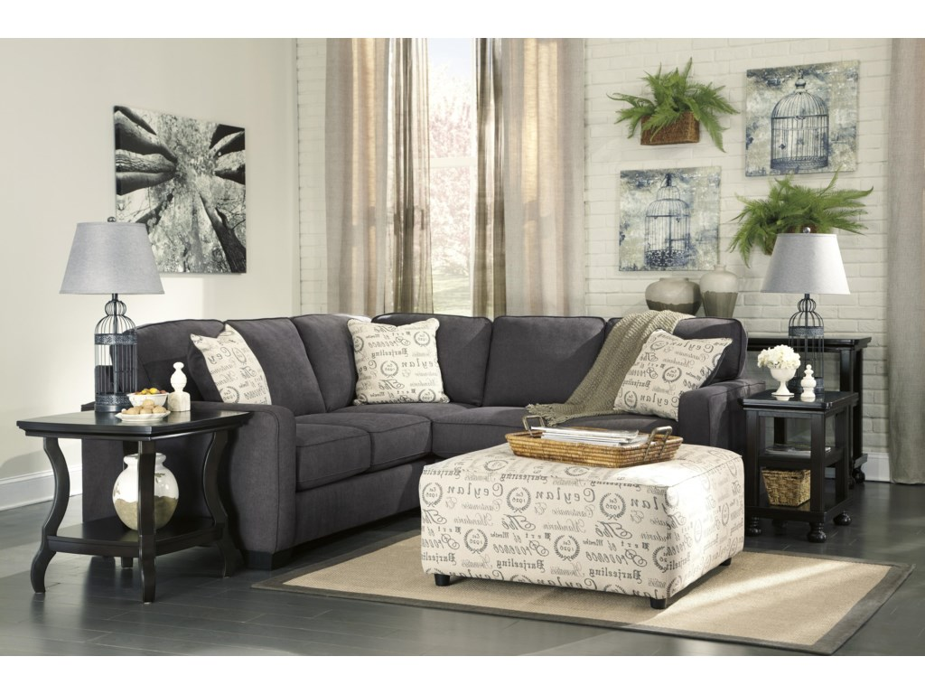 Signature Design by Ashley Alenya - Charcoal2-Piece Sectional with Right Loveseat