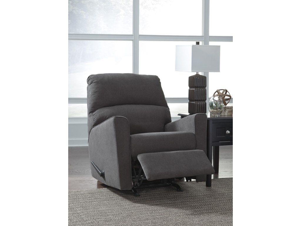 Signature Design by Ashley Alenya - Charcoal3 PC Sectional and Recliner Set