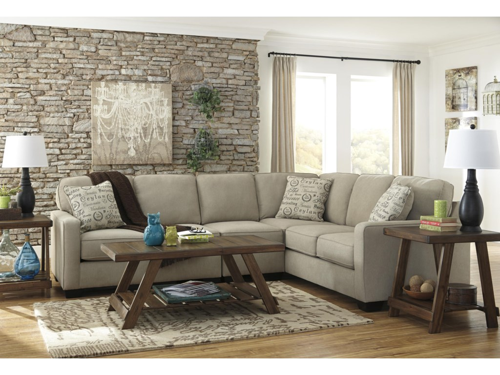 Signature Design by Ashley Alenya - Quartz3 PC Sectional and Recliner Set