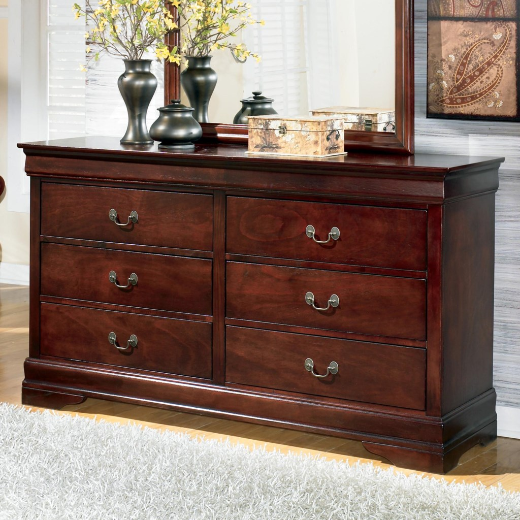 Alisdair traditional dresser with 6 drawers by signature design by ashley