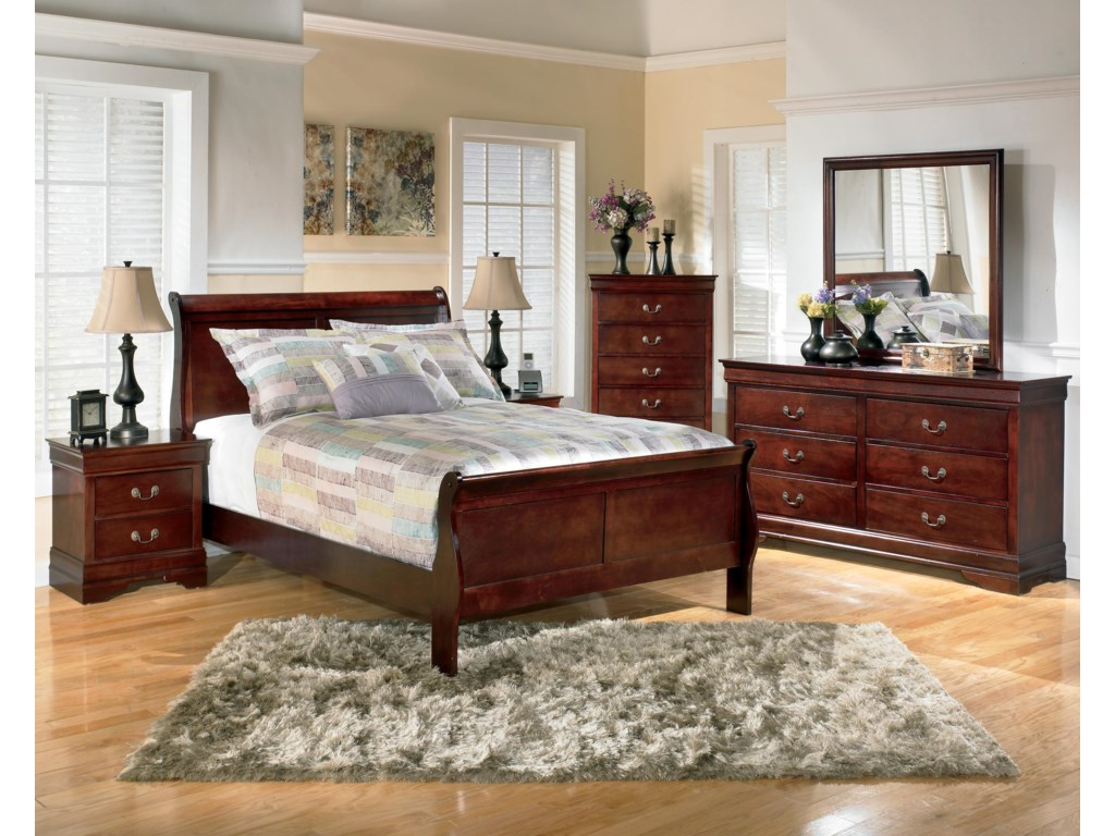Shown with Night Stand, Sleigh Bed, Chest, and Mirror