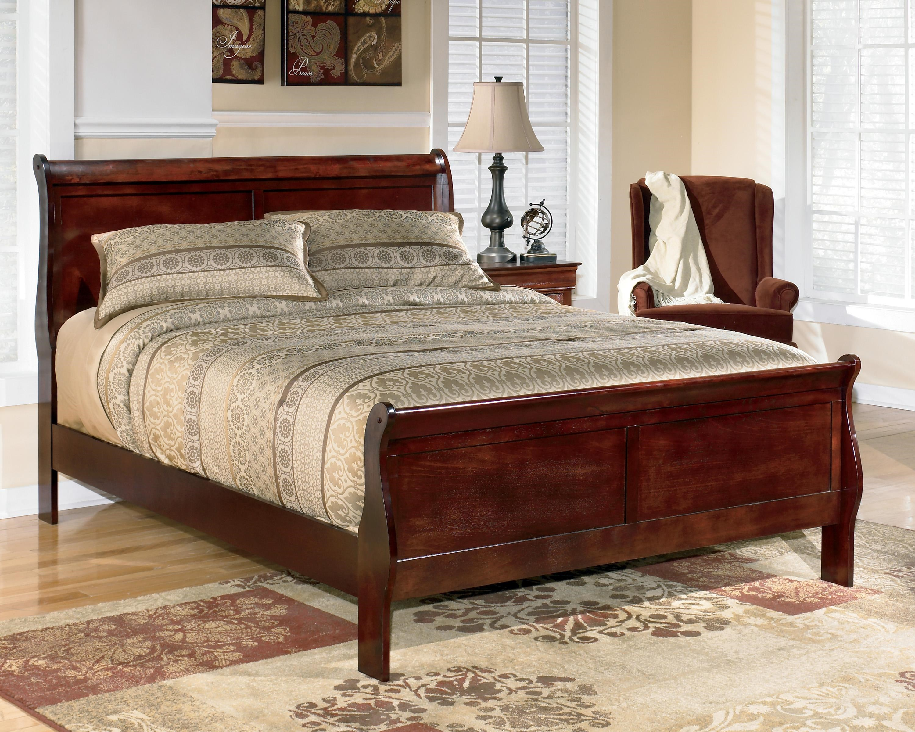 Signature Design By Ashley Alisdair California King Sleigh Bed Royal Furniture Sleigh Beds