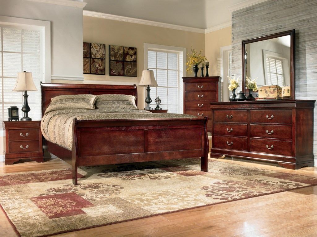 Signature Design by Ashley AlisdairQueen Sleigh Bed