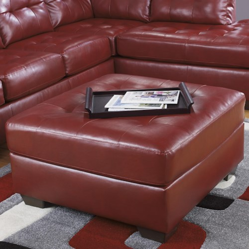 Signature Design by Ashley Alliston DuraBlend® - Salsa Oversized Accent Ottoman w/ Tufting