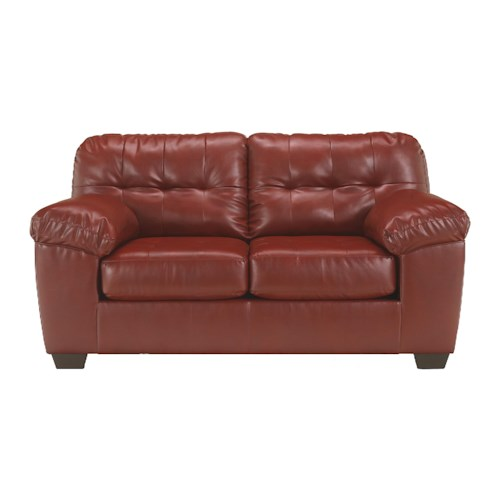 Signature Design by Ashley Alliston DuraBlend® - Salsa Contemporary Loveseat w/ Pillow Arms